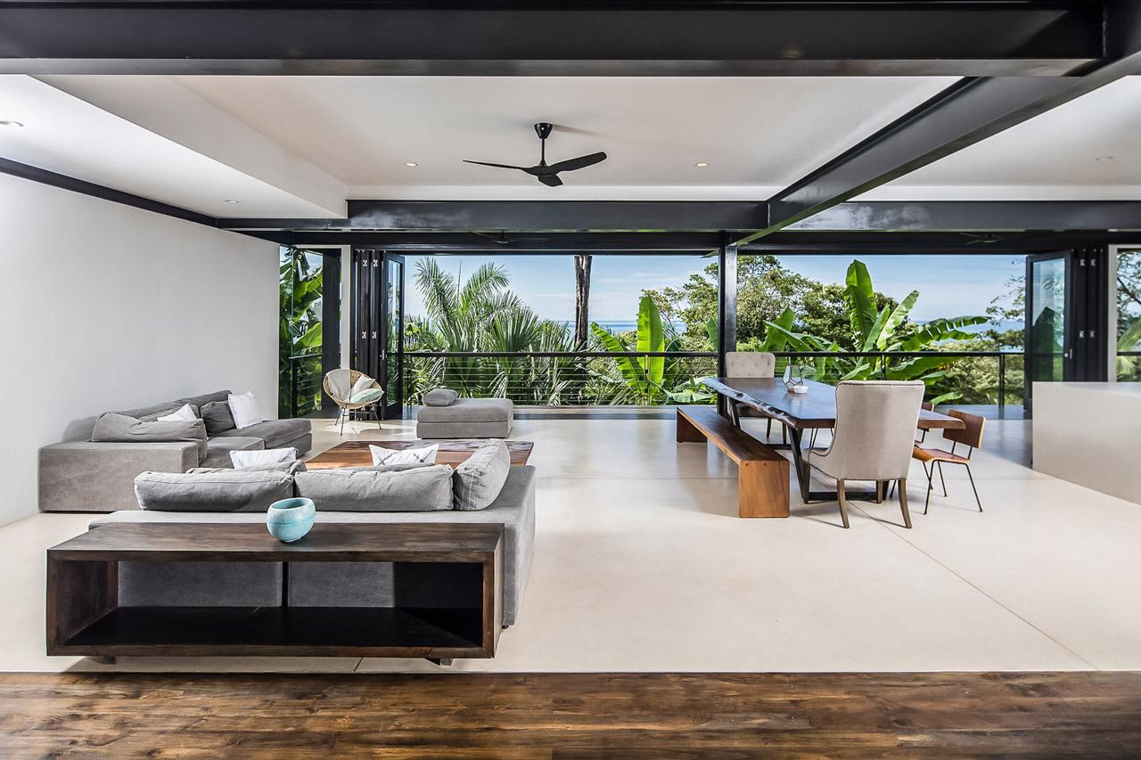 Modern Living Room Small Space: Casa Bri Bri, Costa Rica: Breezy Tropical Living