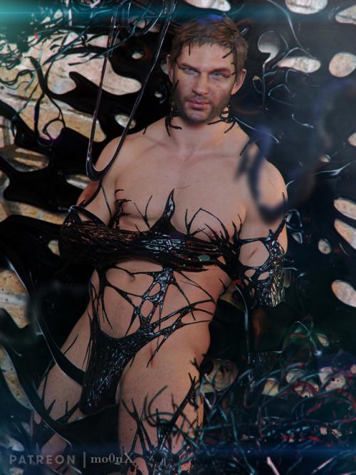 Venom 😘  Like my work? Consider supporting me on Patreon for more goodies #tom hardy#eddie brock#venom#2018#symbiote#spiderman#marvel#mcu#3Dbara#3d gay#fanart#bubble butt#bara#daddy#my art#Big Cock#muscles#mo0nx#vincentxyooj#explicit