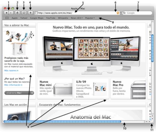 Mi Mac - La ventana del navegador web Safari en mi Mac