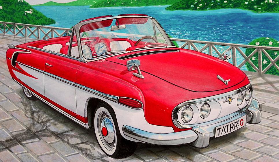 Untitled — carsthatnevermadeitetc:  Tatra T 603 Cabriolet,...
