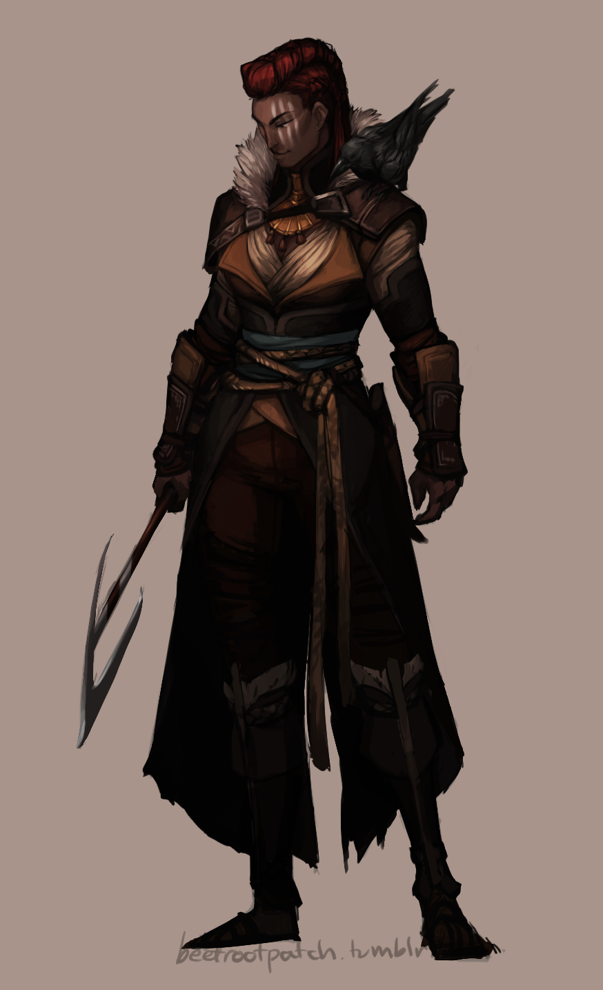 sock's gw2 blog — Put together an in-game outfit for Gunhild, so