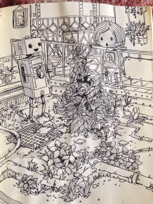 sketchbook rough original robot ラクガキ スケッチブック