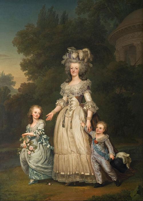 A portrait of Marie Antoinette and her children by Adolf Ulrik Wertmüller, 1785.