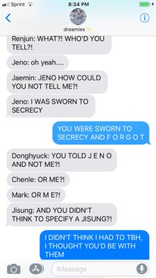 nct dream texts | Tumblr