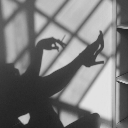 #black#whtie#silhouette#photograpy#night#time#hipster#wall#smoking#dark#pale#grunge