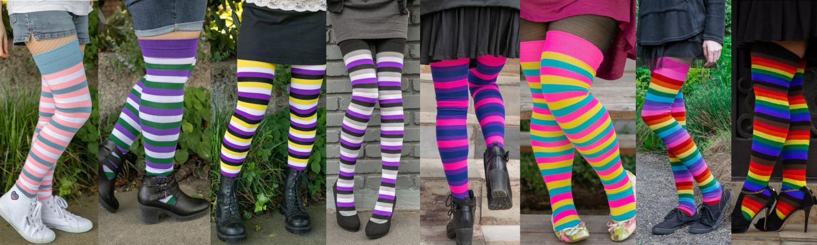 7b84b1d6b23 Dreamer Long Proud Stripes Tube Socks