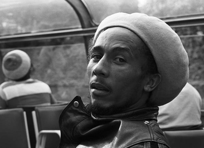 Bob Marley photographed by Gijsbert Hanekroot in Amsterdam, 1976.