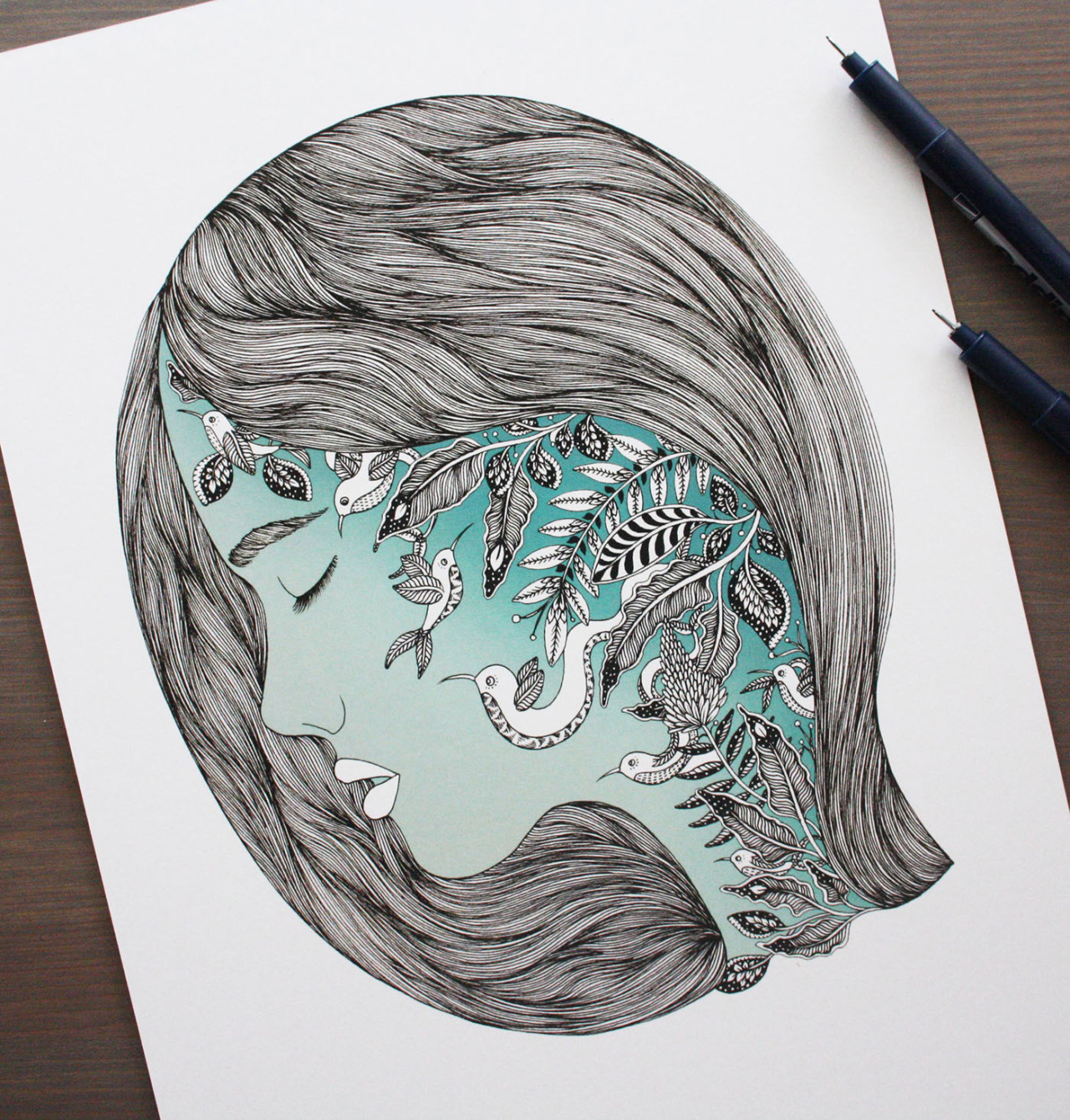 CNL — Ornate Ink Illustrations Of