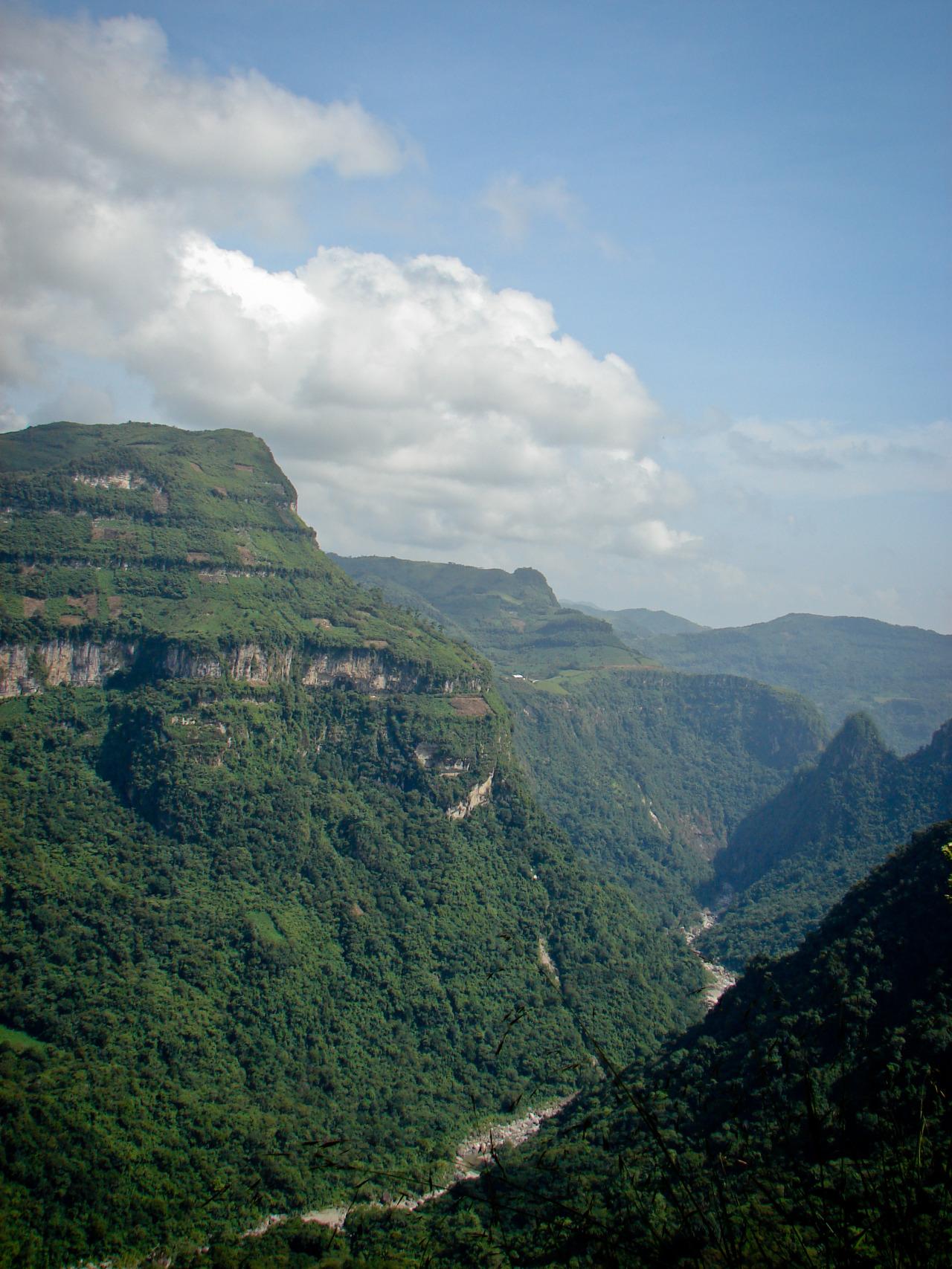 vista del Balcón del Diablo en Xochitlán