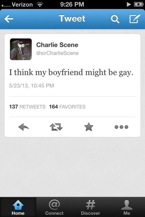 Charlie Scene Scene Kids HU4L HUA Hollywood Undead tweet