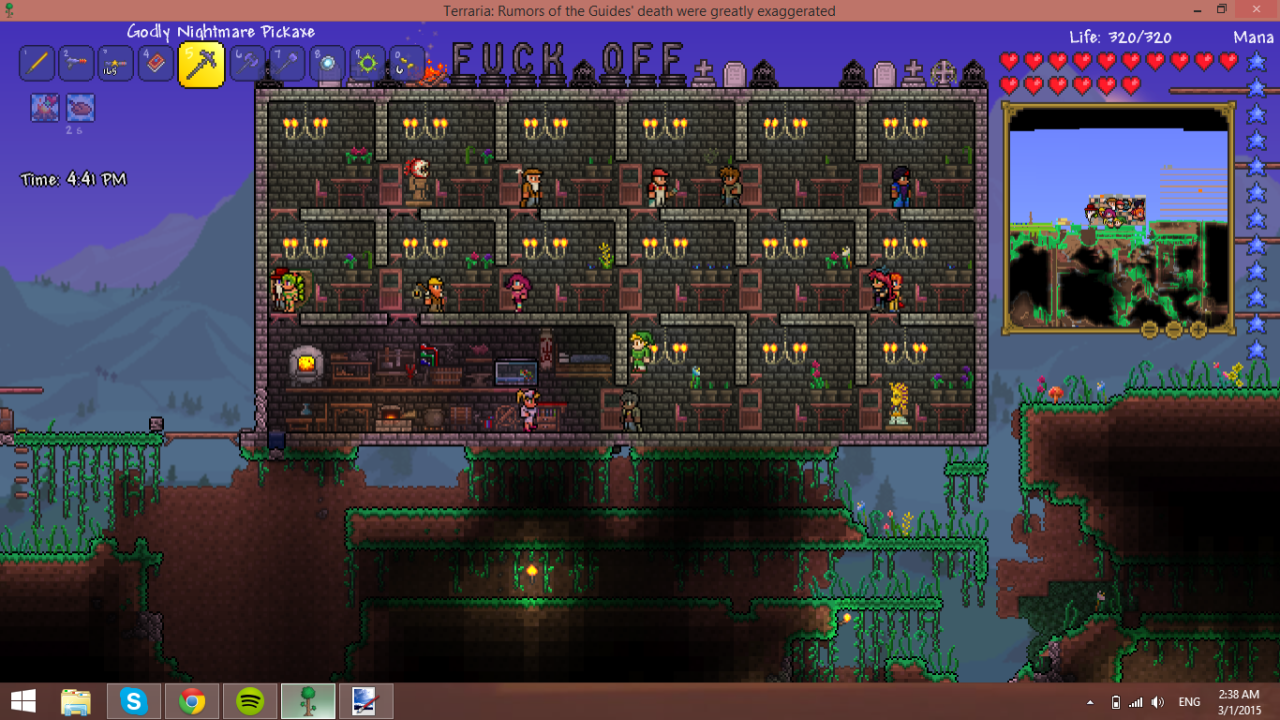 Terraria Bases and Buildings