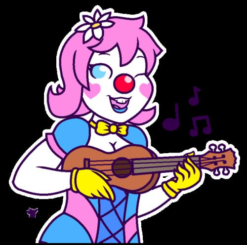 June plays a tune. #art#oc#clown#clowngirl#june star