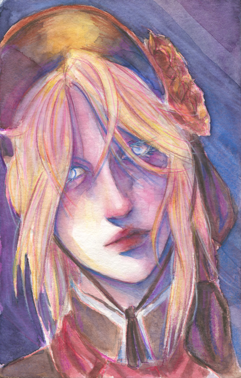More trying around with those watercolor portraits except I painted the plain doll from bloodborne xD Haven't drawn her in ages, I had to fix that! Not the happiest with this but still good enough xD I think it looks a lil bit better in real life tho. #art#Illustration#Fanart#bloodborne#doll #the plain doll #portrait#watercolor#traditional#traditional art#traditional painting#my work#my art#sfw