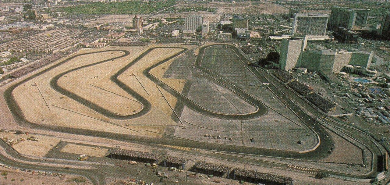 Vintage Las Vegas 1981 Caesars Palace Grand Prix Race Track Via