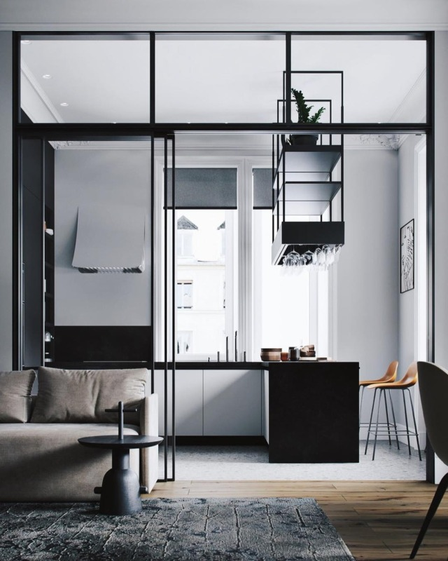 its-my-homeliving:Modern Apartment // Aiya Design The Definitive Source for Interior Designers