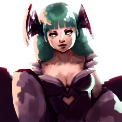 Morrigan (Darkstalkers) by CrumbscyAs found at
