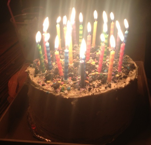 Fantastic Lady Aga Gooey Fudgy Chocolate Birthday Cake With Peanut Funny Birthday Cards Online Hetedamsfinfo