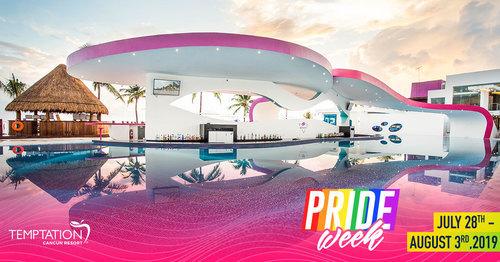 Come ExperienceTemptation Cancun Resort Pride Week 2019