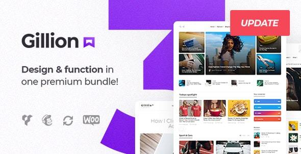 Gillion v3.4.4 – Multi-Concept Blog/Magazine & Shop WordPress Theme Nulled