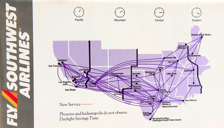 Airline Maps — Southwest Airlines route map, 1990 The ... on air canada, florida airlines map, jetblue airways, qantas airlines map, first niagara map, southwest cargo map, denver international airport, mokulele airlines map, american airlines map, virgin america, alaska airlines, etihad airlines map, pakistan international airlines map, us airways, british airways, united airlines, southwest airplane map, delta map, continental airlines map, frontier airlines, delta air lines, airbus a320, los angeles international airport, aeroflot airlines map, eastern airlines map, frontier airlines map, canada airlines map, spirit airlines map, spirit airlines, southwest flight paths map, south west airlines interactive map, allegiant air, gol airlines map, 2014 south west airlines map, american airlines, continental airlines,