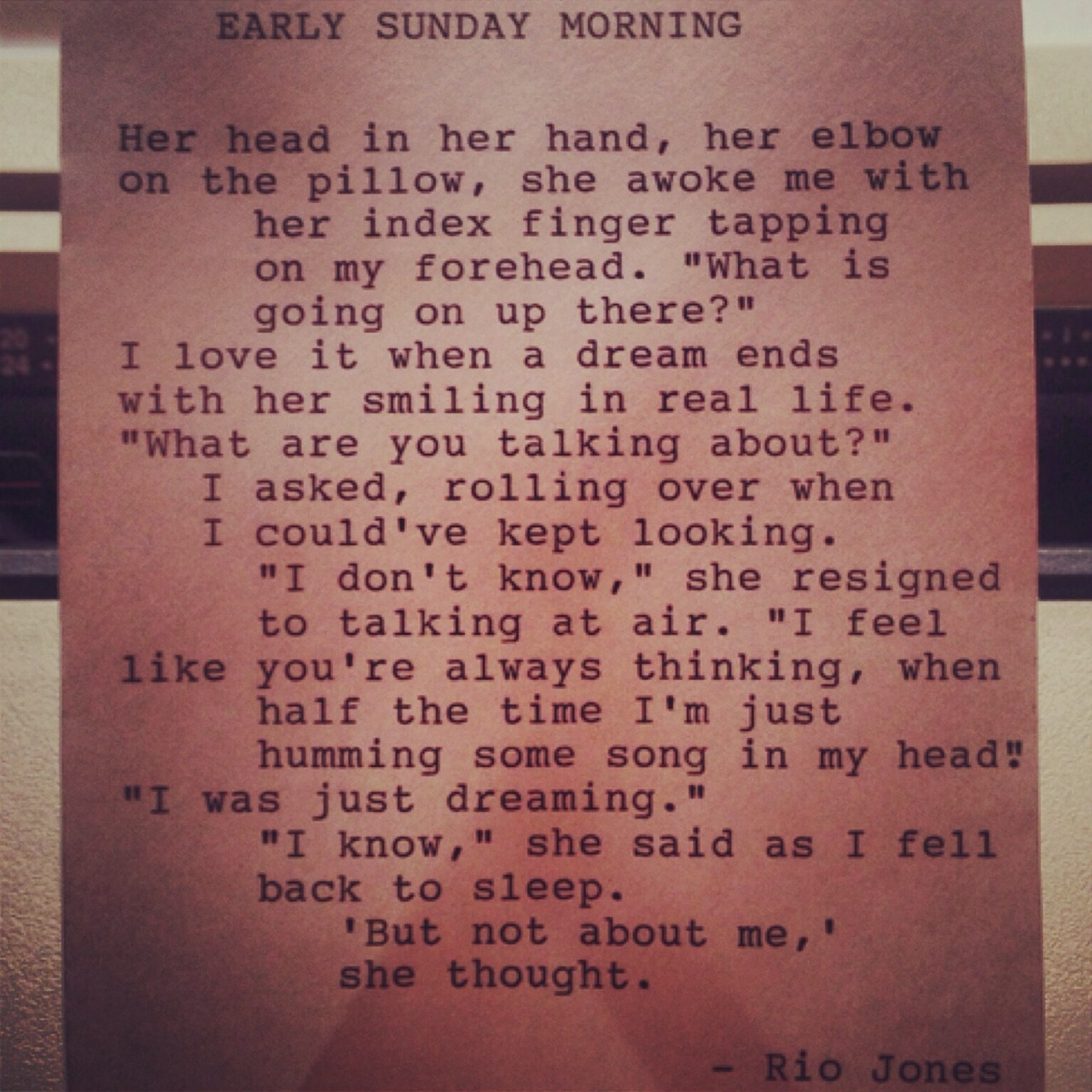 sunday morning poem