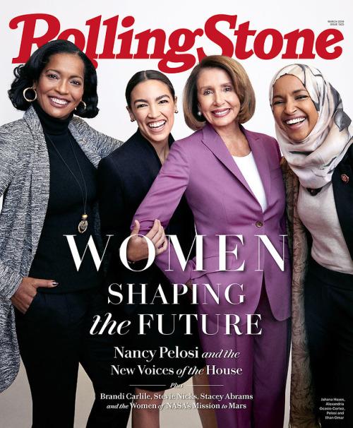 Nancy Pelosi, Alexandria Ocasio-Cortez, Ilhan Omar and Jahana...