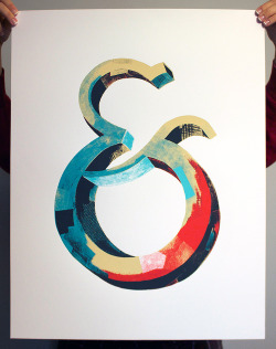Typeverything.com - Ampersand screen print. Available athttp://darrenbooth.com/shop/