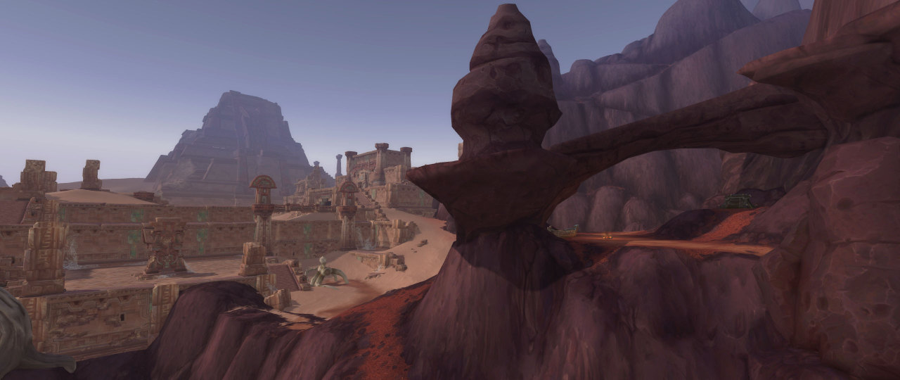 World of Warcraft A-Z: Vol'dun (Battle for Azeroth expansion) A land of trackless sands and nomads who sift through the ruins in hopes of find mafical treasures. #wow#worldofwarcraft#dune#desert#ruin#rock