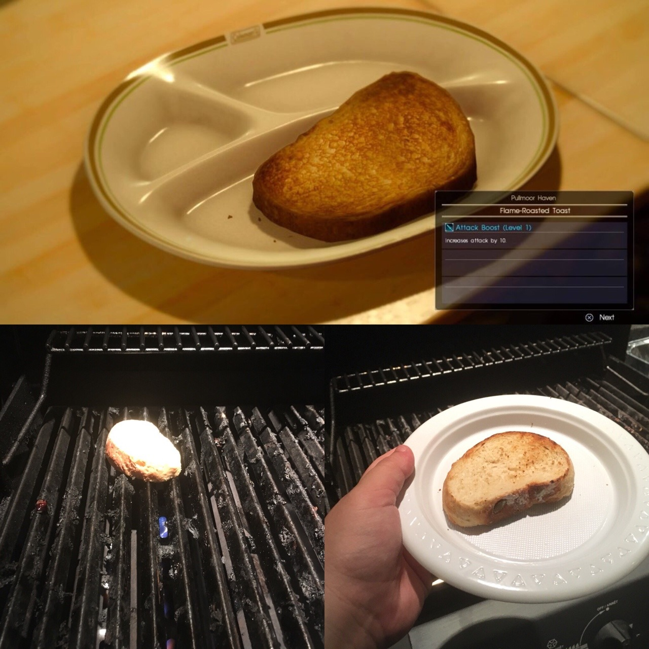 flame roasted toast from ffxv happy new years