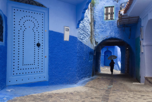 """archatlas: """" The Vibrant Blue Hues of Morocco's Chefchaouen Village Captured in Photographs by Tiago & Tania Photography duo Tania De Pascalis and Tiago Marques, known as Tiago & Tania, spent six days capturing the blue-tinted stone architecture of..."""