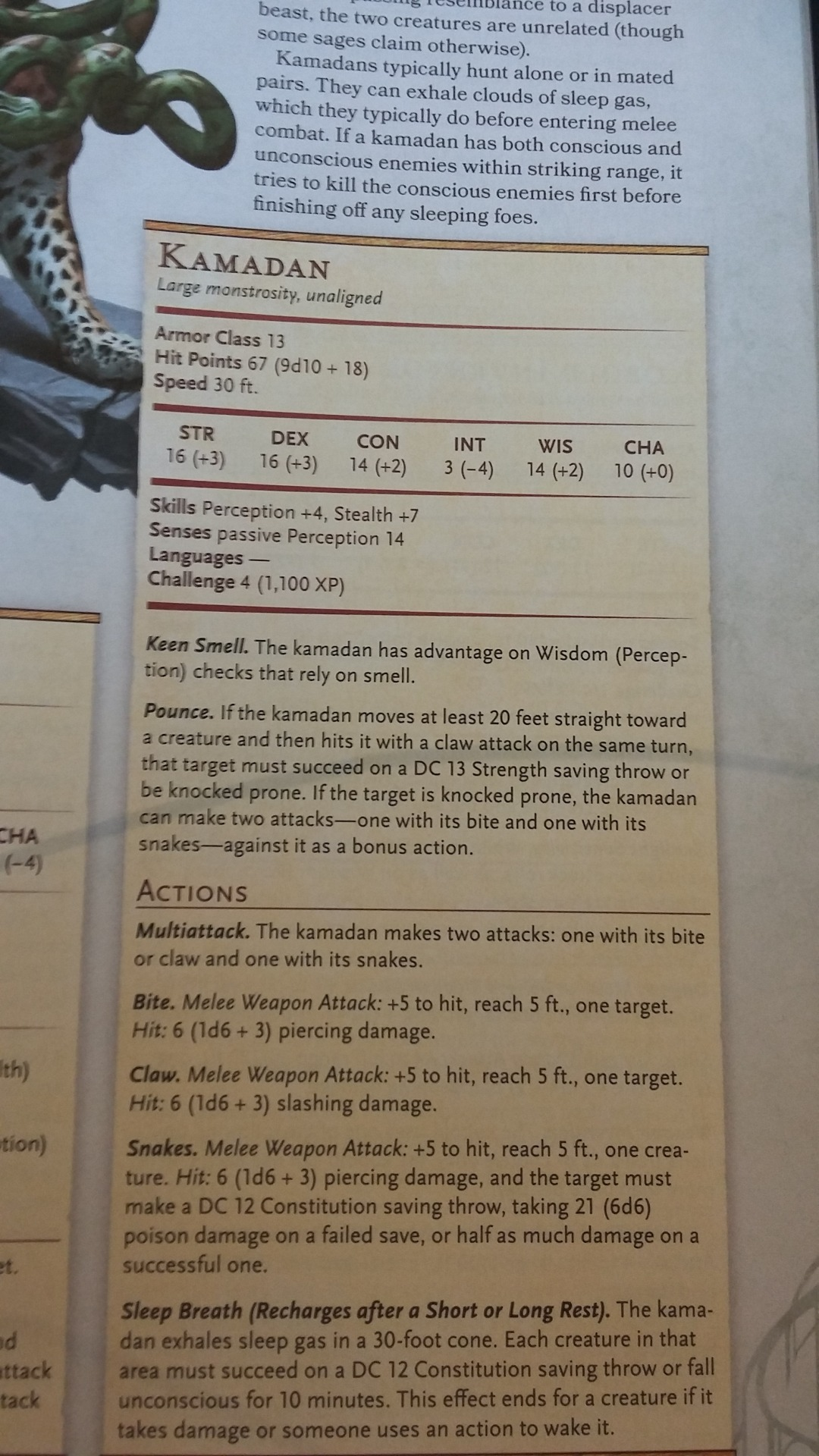 Dungeons & Donuts — Improving the 5e Stat Block
