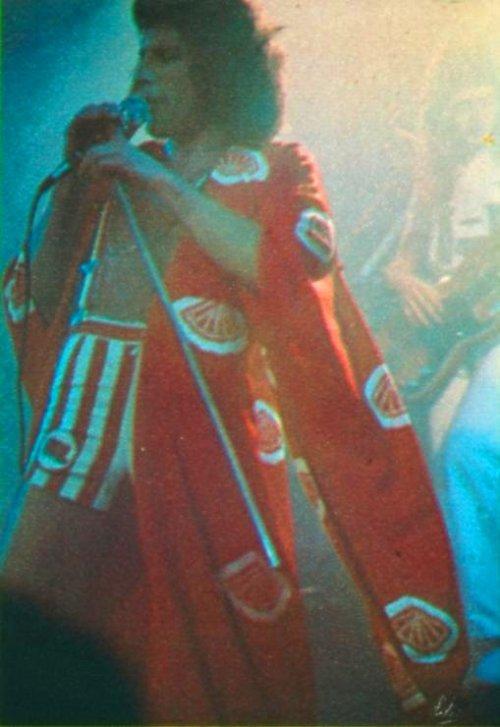 red kimono stripy shorts freddie mercury 1976