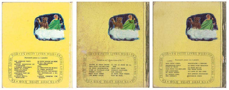 Un Petit Livre D'Or - comparaison d'éditions Bfd3f1dc9e5d4e132f133b115004ce5eccb6e629