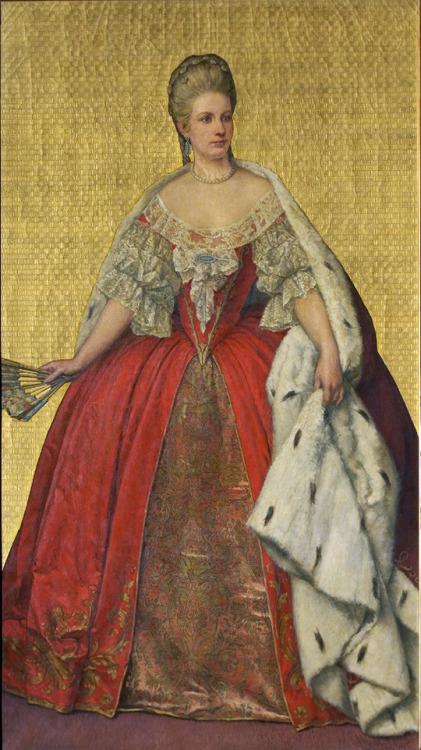 A portrait of Maria Christina of Austria by Louis Gallait, 19th century.