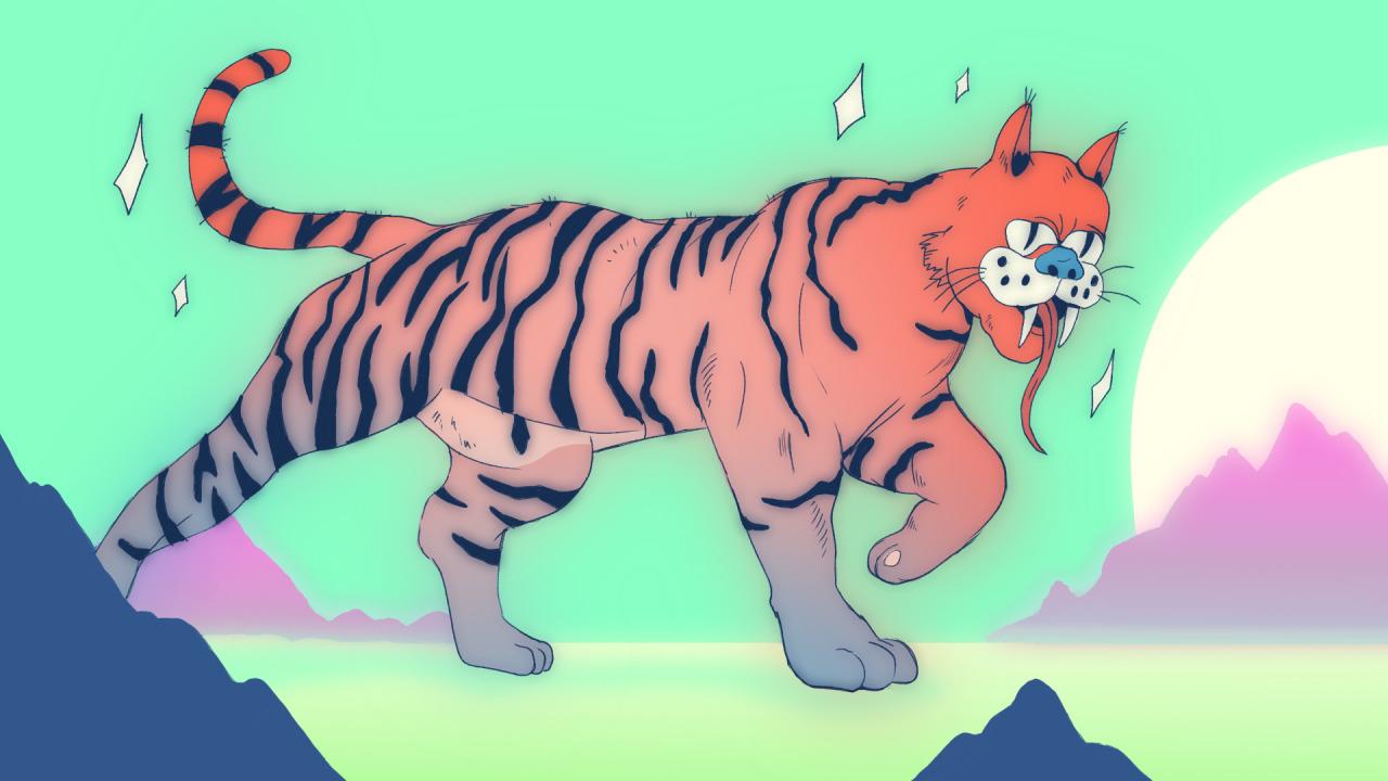 Tiger god #tiger#illustration#art#digital art#colors#tigre#animal#dessin#comics#bd#wild#god#graphic#graphic design#shine