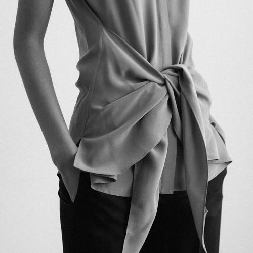blouse draped silk buttonup thedreslyn