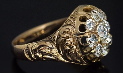 ring unisex 1850s antique victorian jewelry