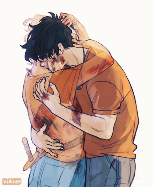 """viria: An AU in which Annabeth died and Percy gets to see her one last time:) I am sorry, blame this beginning of this song. Which, if translated roughly would be"""" I'll give everything, I'll leave everything behind, bring back for a momentthose I didn't get to finish loving"""""""