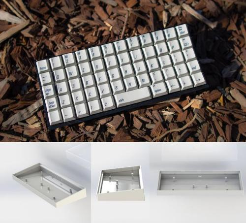 """""""Here is my open source ortholinear 50% Alps keyboard project, Github repo in comments, Enjoy!"""" via u/Yaus on reddit #keyboard#mechanical#ortholinear #ortho 50 alps"""