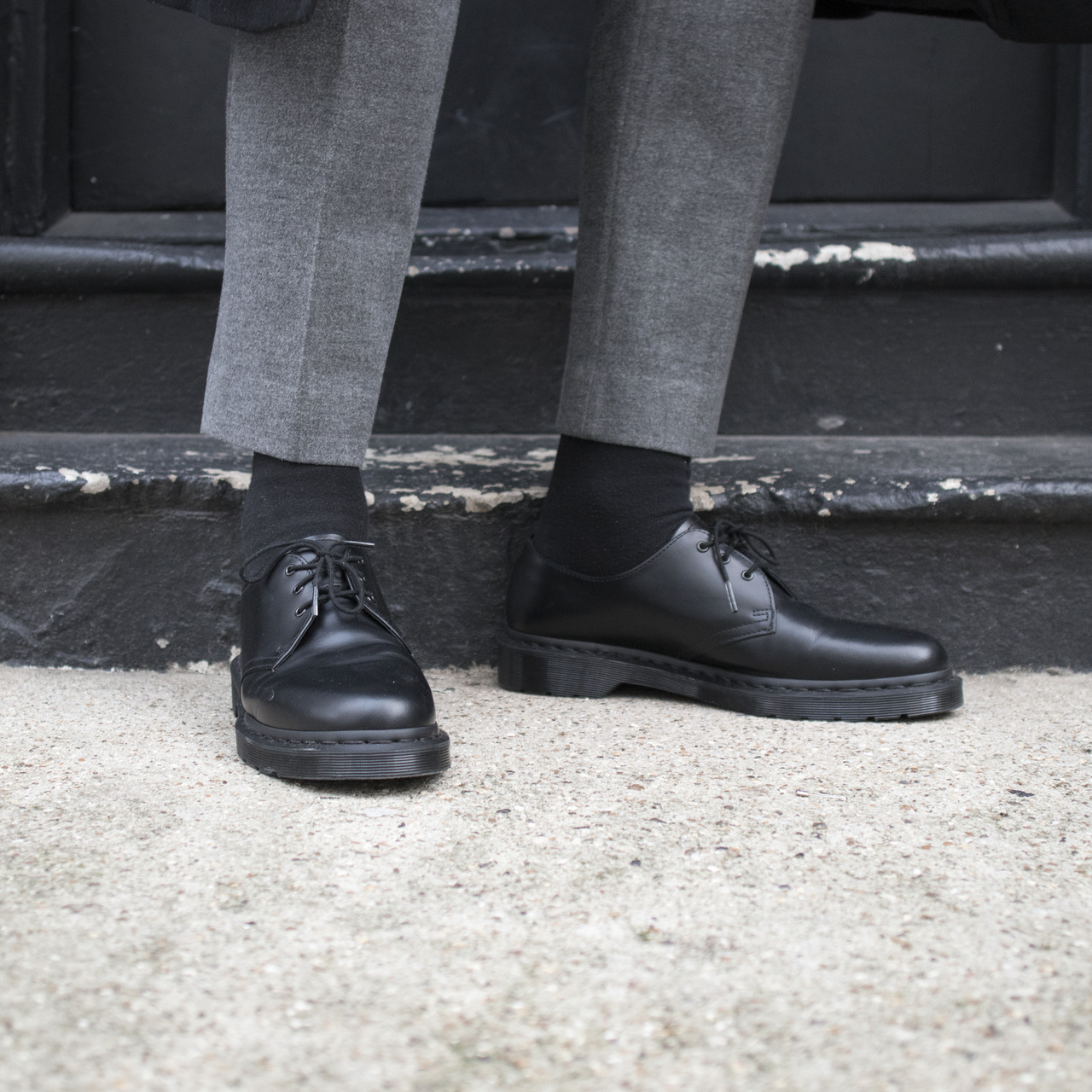 outfits with dr martens 1461 mono black tumblr