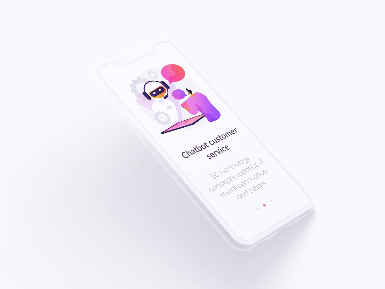 Tech Illustrations For Onboarding Screens by Visual Generation #ui#ux#design drips#interface#character#chatbot#concept#concept illustration#illustration#oboarding#robot#technology#ui design#ui elements#uikits#vector