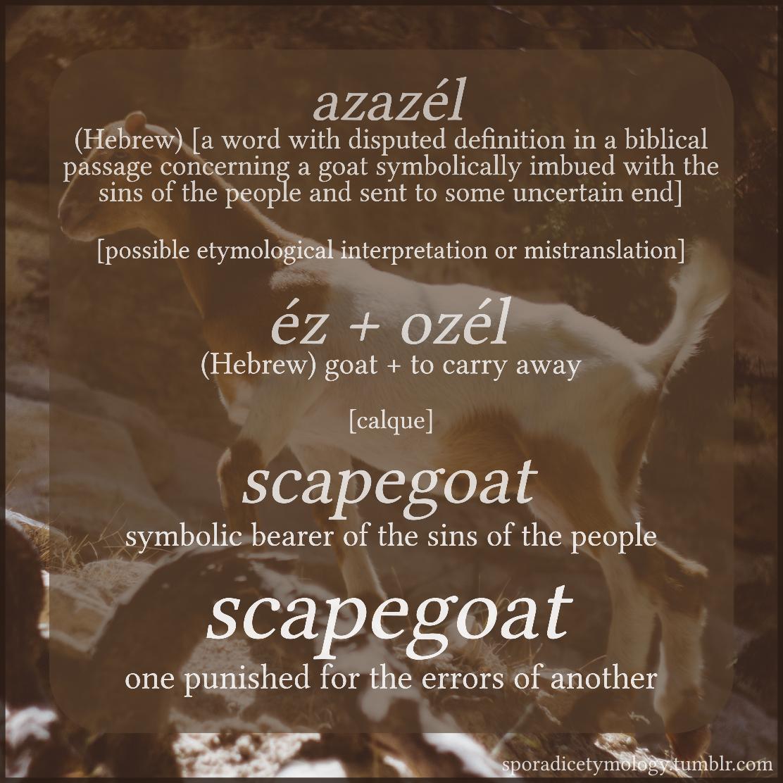 Sporadic Etymology — I rarely find such odd words with such
