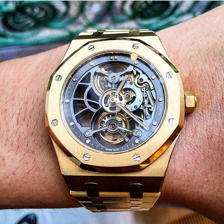 882aac91c13 The Audemars Piguet Royal Oak Skeleton Tourbillon In Yellow Gold 👌 📷   kirill krjukov