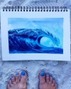 So this is the last painting for the trip..I'm rather happy with the result..Straight after I painted this i had a manicure to match my crazy blue toenails. Crazy blue is my favourite! .Btw, If you've ever wanted to go to the Maldives… Do it… Such an amazing place 💖 ...Best holiday evah!.......Don't wanna go home! ......#seaside #seascape #artworks_artist #seascapes_lovers #seascapepainting #oceanvibes #oceanviews #colourventures #discovercolor #simplementation #createart #cotfa #australianartist #creativityfound #paintings #oceanart #waves #gasbombgirl #visualart #acrylicsoncanvas #surfart #pertharts #perthartists #gasbombgirlwaves #arstudios #goodmorningart #bigwaves #surfartist #waveartist #oceanfront  (at Hudhuranfushi)https://www.instagram.com/p/BnjHa-gBywU/?utm_source=ig_tumblr_share&igshid=43sy81dsf9tu