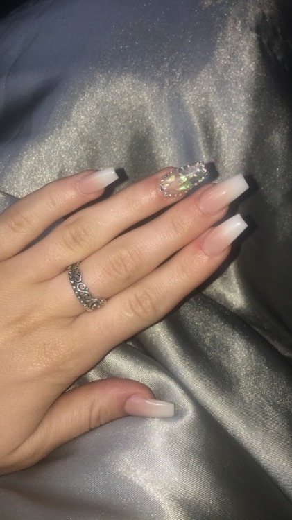 nails acrylic nails acrylic acrylic nail french tip french manicure manicure glitter diamonds expensive luxury