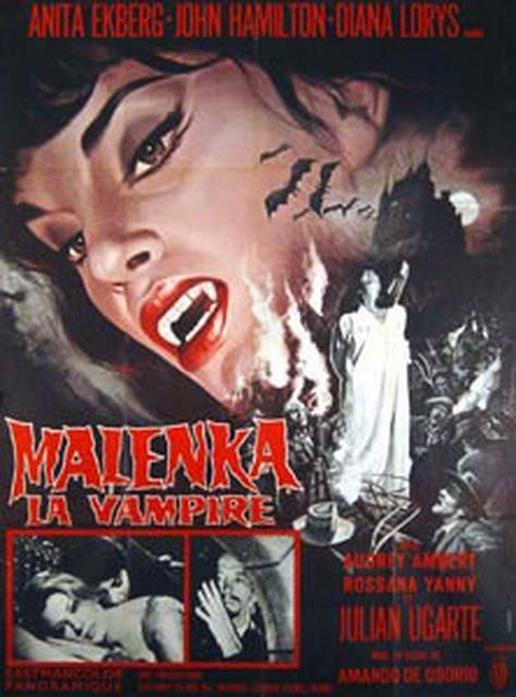 fangs of the living dead malenka anita ekberg vampire vampire film vampire movie horror horror movie horror film cult movie cult film