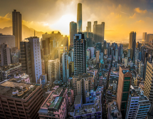 photographers on tumblr hong kong city urban Architecture sunset clouds high angle buildings asia milamai