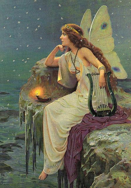Thefaeryhost: Victorian Sea Fairy __ artist unknown