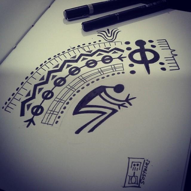 Sem Titulo Arte Tribal Inspirada Nos Desenhos Rupestres