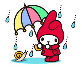 my melody sanrio line stickers ♬